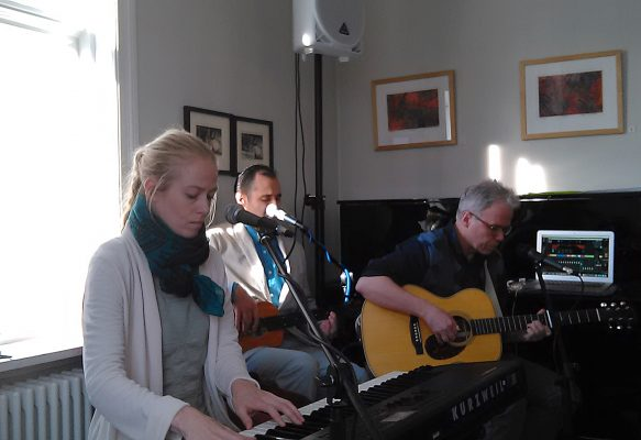 Musicians perform, International Day of Happiness, UNESCO Literary House, Reykjavik, 20 March 2016