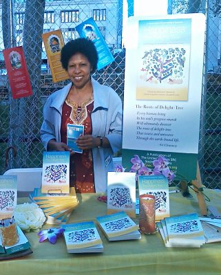Friend of the Society Hilrie Flowers at the Brooklyn Book Fair